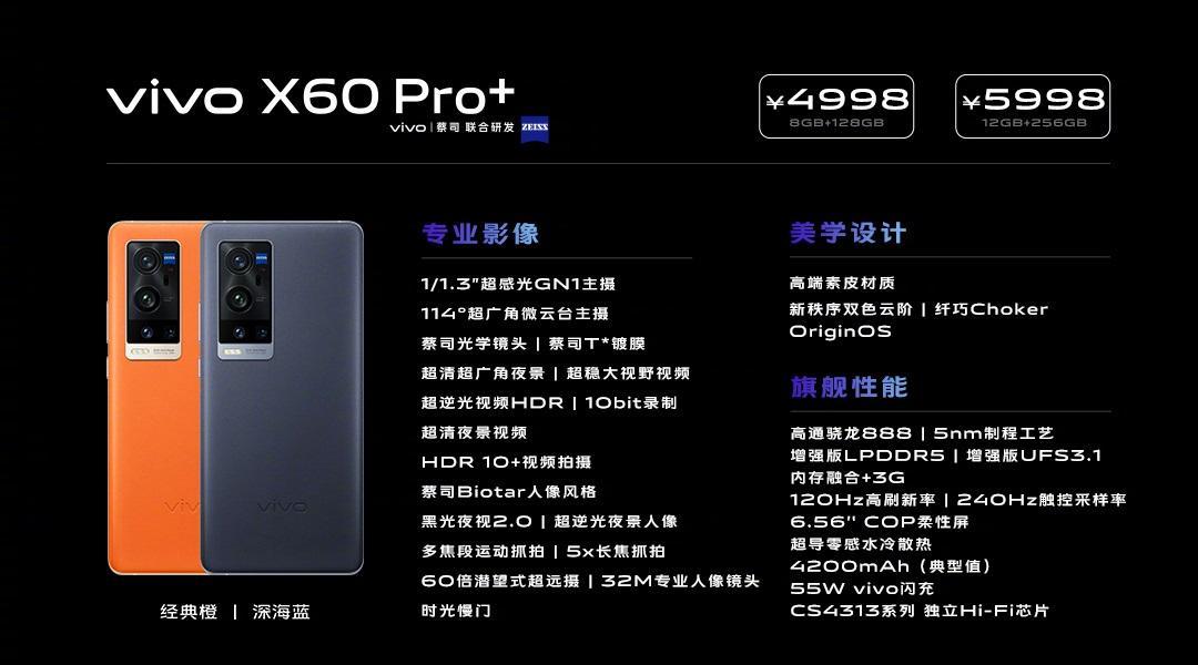 骁龙 888 + 蔡司光学镜头,vivo X60 Pro+4998 元起插图(6)