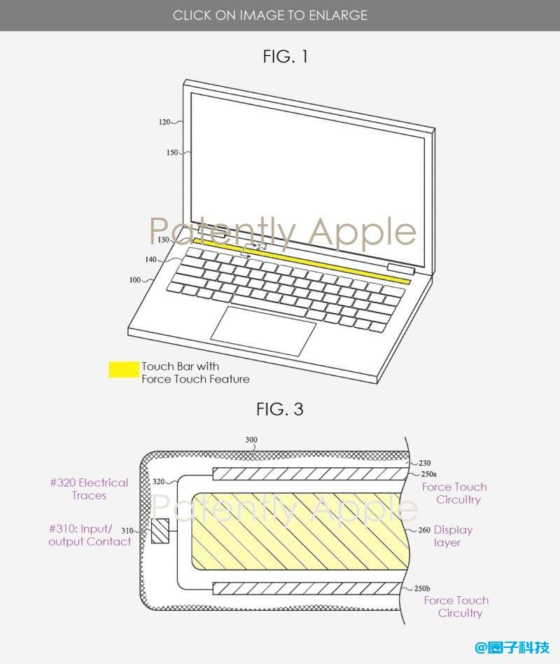 苹果为新款MacBook申请Touch Bar专利:支持压力触控