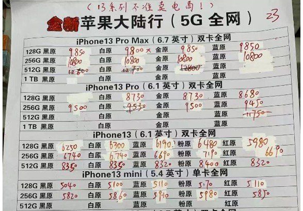 iPhone 13 Pro涨价500多 依然国产卖得火插图(1)
